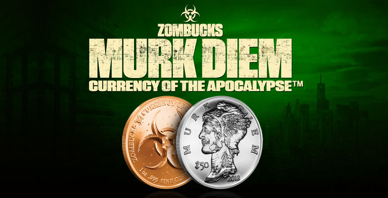 2017 Morgue Anne Zombucks Currency of the Apocalypse 1 oz Fine Copper Round