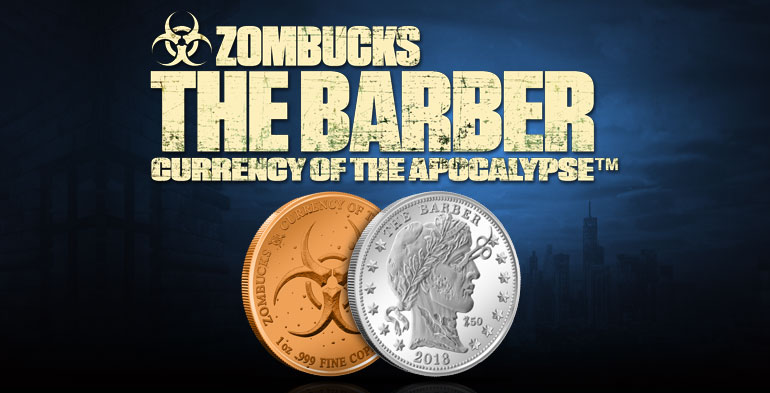 "Copper Round /""Apocalypse/"" Coin ZomBuck  #10 SAINT 1 oz"